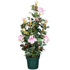 """35""""H Artificial Flower Rose In Pot Peach - 56764PEAC"""