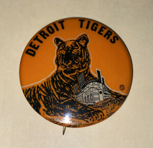 Vintage 1950's Detroit Tigers/Briggs Stadium pin