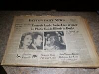 Vintage Newspaper Kennedy Nixon Election Dayton Ohio November 9, 1960