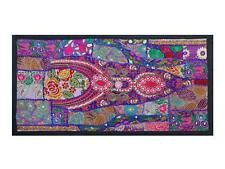 WALL ART TAPESTRY RUNNER HANDMADE EMBROIDERED PATCHWORK VINTAGE TF13