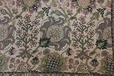 Antique 19thC (1880) French Jacquard Woven Indienne Home Fabric W/Border