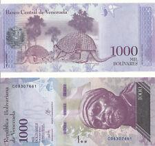 VENEZUELA - 1000 Bolivares 23. 3. 2017 aUNC-Pick New, New Date