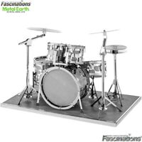 Metal Earth Drum Set Music Instrument 3D Laser Cut DIY Model Building Kit Puzzle