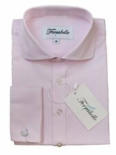 Boys Dress Shirts Quality Cotton & French Cuffs W/Cufflinks Included--Pink, 8