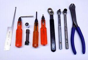 10 PC ATI / Omega Tech Hi Lok Roller Ratchet Set Aircraft Tools