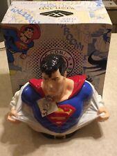 DC Comics SUPERMAN COOKIE JAR - Clark Kent to Superman - Westland Giftware W/BOX