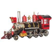 RED & BLACK STEAM TRAIN  Metal Model Railroad Trains Steam Locomotive