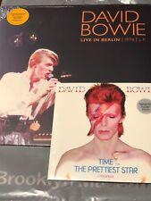 "David Bowie Is Brooklyn Museum Exclusive Orange Vinyl Live Berlin LP, Time 7"""