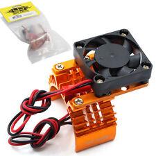 New Yeah Racing Aluminum 540 Motor Heat Sink w/ Cooling Fan Orange Ships Free