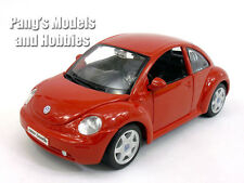 Volkswagen (VW) New Beetle 1/25 Scale Diecast Metal Model by Maisto - RED
