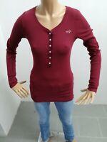 Maglia HOLLISTER Donna Taglia Size L t-shirt Woman Maglietta Manica Lunga 6355