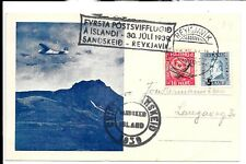 ICELAND FLIGHT COVER 1939