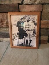 Babe Ruth / Lou Gehrig Framed Photo 15x12 Inch Facsimile Autograph Bustin Babes