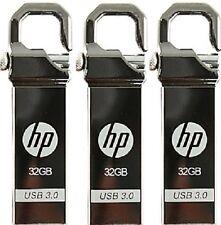 Lot of 3 pcs HP x750w 32GB USB 3.0 Flash Drive Metal Hook Storage Memory 32G