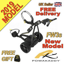 New 2019 Powakaddy FW3s Black Electric Golf Trolley 18 Hole Battery and Charger