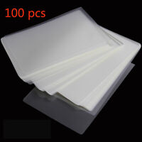 100 Pcs 6'' Laminating Pouches Film Sheet Protection Photo Paper Files Card Film