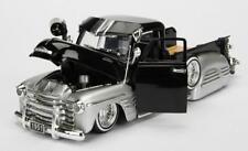 1/24 Jada 1951 Chevrolet Pickup Truck Lowrider Diecast Car Black / Silver 99035