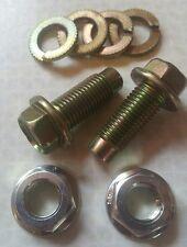 2 x 7/16th Seatbelt Bolts, Flanged Nuts, Split,  Washers 20mm Nissan Original