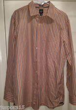 Gap Mens Orange/Blue/Purple/Black Striped Button Down Shirt Size L 16-16.5