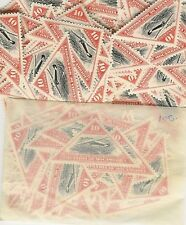 MOZAMBIQUE COMPANY 1935 AIR ROUTE 10c TRIANGLE MINT 100 stamps SG262 cv £75