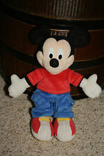"""2001 Fisher Price Plush Disney Mickey Mouse Blue Pants 12""""     A4"""