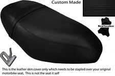 BLACK STITCH CUSTOM FITS PIAGGIO ZIP 50 125 00-13 DUAL LEATHER SEAT COVER