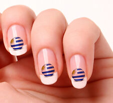 20 Nail Art Decals Transfers Stickers #687 - World Cup Uruguay flag icon
