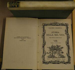 STORIA DELLA MIA VITA, VOL. VIII, Casanova, Corbaccio 1925.Prima ed. italiana