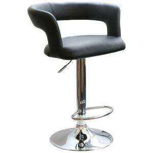 AmeriHome BS2440 Adjustable Height Bar Stool with Round Back
