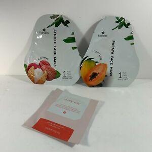 Hanalei Papaya & Lychee Face Masks & Mary Kay Hydrogel Eye Patches New