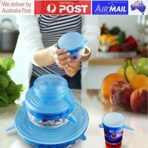 1 Set Kitchen Silicone Stretch Suction Silicone Lids Covers Wrap Vacuum Seal