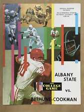 Albany State Bethune-Cookman COLLEGE FOOTBALL PROGRAM - 1972 - EX