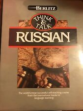 Think & talk Russian by Berlitz 6hrs tape and books