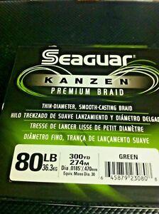 SEAGUAR KANZEN -- 80 lbs - 300 YDS ADVANCE MICROFIBERS SMOOTH CASTING SENSITIVE