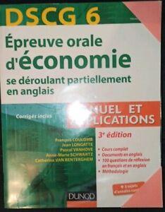 Livre DSCG économie