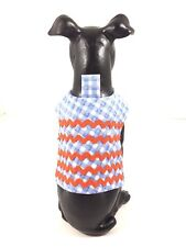 Dog Pet Cat Clothes Harness SZ XS 3 to 5 LBS NEW Handmade Check Fabric Rick Rack
