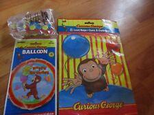 3pc Lot Unique Curious George Birthday Multi-color Party Goods  NOS