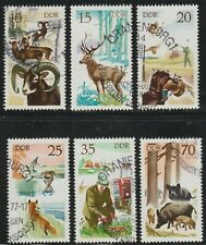 DDR 1977 SC# 1858 - 1863 - Hunting in East Germany - Used Lot # 344