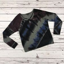 Rock & Republic Knit Sweater Top Size L - Gray Black Red Tie Dye Strappy