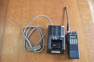 vintage Yaesu FT-470 ham radio transceiver with Yaesu NC-29 charger AS IS