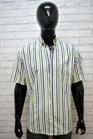 Camicia a Righe Uomo PAUL & SHARK Taglia 40 L Maglia Manica Corta Shirt Man