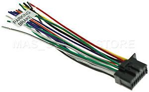 WIRE HARNESS FOR JVC KDX360BTS, KDX350BTS KDX340BTS KDX35MBS * SHIPS SAME DAY*