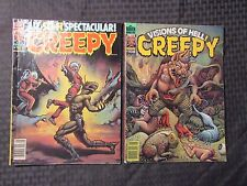 1979 CREEPY Warren Horror Magazine LOT of 2 Issues #107 FN 108 FVF