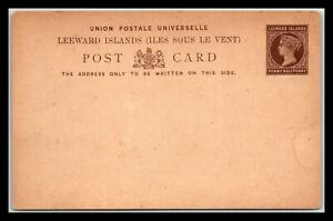 GP GOLDPATH: LEEWARD ISLANDS POSTAL CARD MINT _CV748_P09