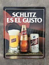 Vintage 1981 Schlitz Es El Gusto Metal Beer Sign