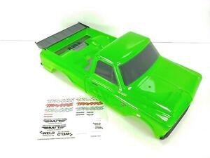 *ALL NEW* TRAXXAS DRAG SLASH CHEVROLET STREET TRUCK BODY - CHEVY C10 RACE GREEN