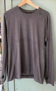 Lululemon men's heathered gray swiftly tech long sleeve medium free shipping