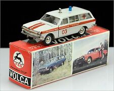 Made in USSR ☭ VOLGA GAZ-2402 Emergency Ambulance Russian DieCast Car 1:43, Box.