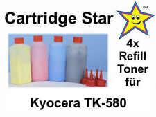 Set 4x Refill Toner für Kyocera FS-C5150DN TK-580
