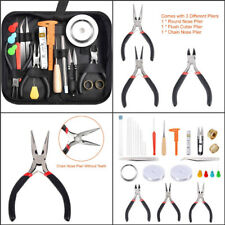 Jewelry Making Tools Repair Kit Pliers Set Beading Wire Supplies Fixing Travel
